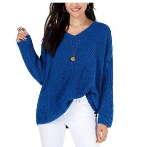 NWT Style & Co. Chenille V-Neck Pullover Sweater
